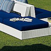 Varaschin Varaschin Domino Square Pouf - White - Panama Azzurro