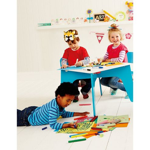 ELC Wooden Table and Chairs - Blue