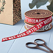 Red Christmas Ribbon - Do Not Open