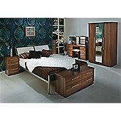 Welcome Furniture Sherwood 2 Drawer Chest with Locker - Walnut