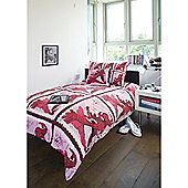 Emma Wright Spiderman Cotton Single Quilt Set Red