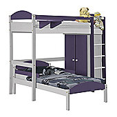 Maximus L Shape High Sleeper Set 1 White With Lilac Details