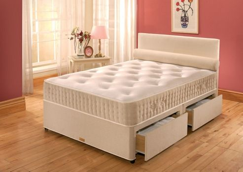 Buy vogue beds vogue latex new latex paedic platform divan for Small double divan beds with 2 drawers