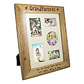 Personalised Grandparents Wooden Multi Photo Frame
