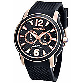 Time Force Alberto Contador Mens Silicone Day & Date Watch 4182M-16WA001183