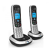 British Telecom 2100 Dual Hands Free Phones with 50 Name and Number Memory
