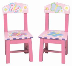 Guidecraft Set of Two Butterfly Chairs