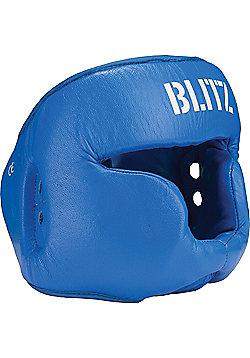 Blitz - Pro Boxing Full Face Head Guard - Blue