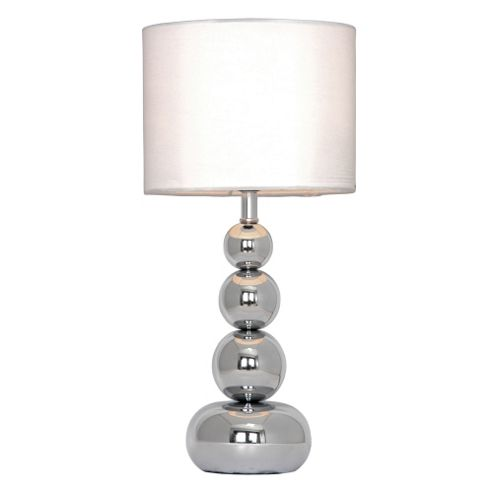 buy marissa touch table lamp chrome white from our table lamps. Black Bedroom Furniture Sets. Home Design Ideas