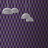 Muriva Cubix Wallpaper - Purple