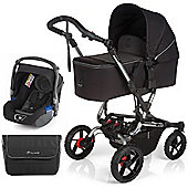 Jane Crosswalk Micro Pushchair (Black/Chrome)