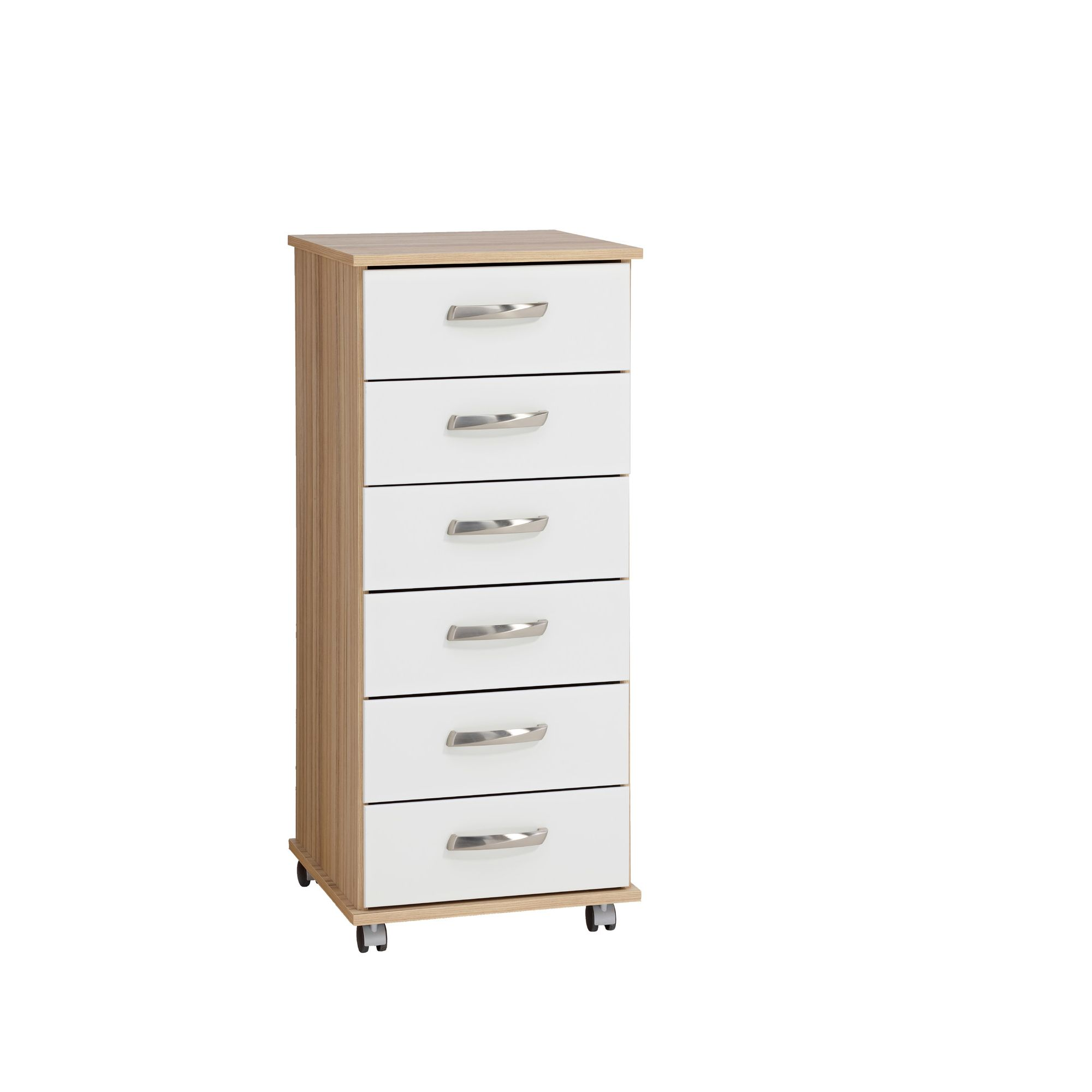 Ideal Furniture Regal 6 Drawer Slim in white at Tesco Direct
