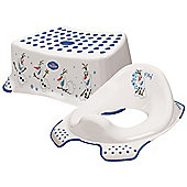 Disney Frozen OLAF Toddler Toilet Training Seat & Step Stool Combo - White