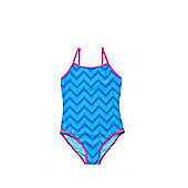 F&F Zigzag Swimsuit - Blue