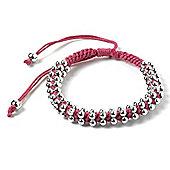 Dark Pink Beaded Friendship Bracelet