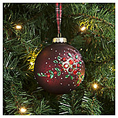 Extra Large Red and Green Gem Glass Christmas Bauble