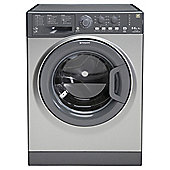 Hotpoint WDAL8640G Washer Dryer, 8kg Load, 1400 RPM Spin, A Energy Rating, Graphite