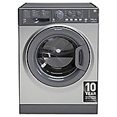 Hotpoint WDAL8640G, Freestanding  Washer Dryer, 8Kg Wash Load, 1400 RPM Spin, A Energy Rating, Graphite