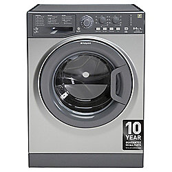 Hotpoint WDAL8640G Freestanding Washer Dryer, 8Kg Wash Load, A Energy Rating, Graphite