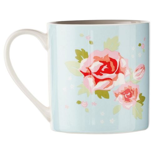 Tesco English Rose Set of 8 Mugs