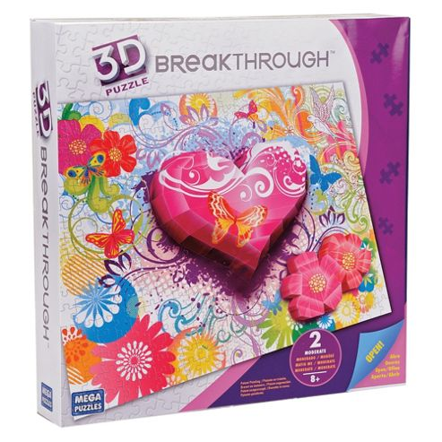 Mega Bloks Breakthrough 3D Puzzle Hearts & Flowers Level 2