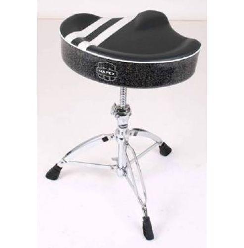 Mapex T756B Special Edition Stripe Top Saddle Throne (Black w/White Stripe)
