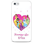 Disney Princess Personalised Couple White iPhone 5/5s Cover