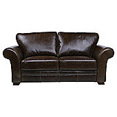 Aldeborough Medium 3 Seater leather Sofa, Walnut