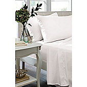 Catherine Lansfield Non Iron Percale Combed Poly-Cotton Fitted Sheets in White - Single