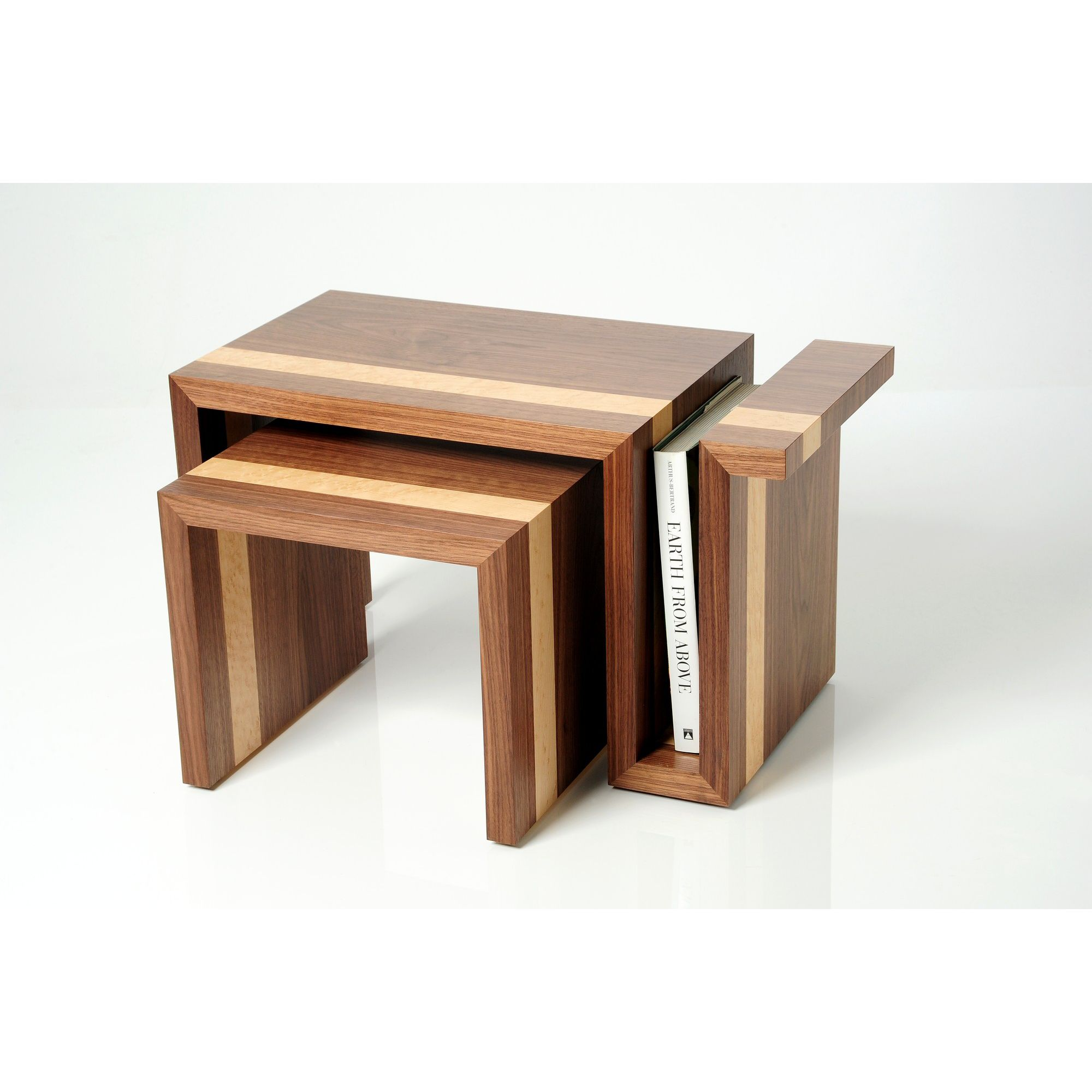 Trefurn Revival Nest Coffee Table - Black Walnut and Birds Eye Maple at Tesco Direct