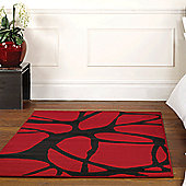 Elements Web Rugs in Red 120x160cm