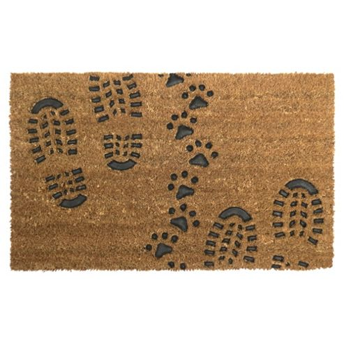 Buy Foot Amp Paw Print Coir Door Mat 45x 75cm From Our Door