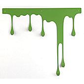 pulpo Drop Wall Coat Rack - Green