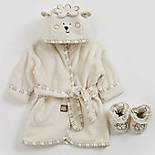 Natures Purest Sleepy Sheepy Bath Robe & Slippers