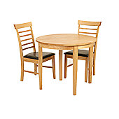 Elements Athens 3 Piece Oak Moon Dining Collection