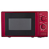 Tesco M1715R 17L Colour Manual Microwave Red