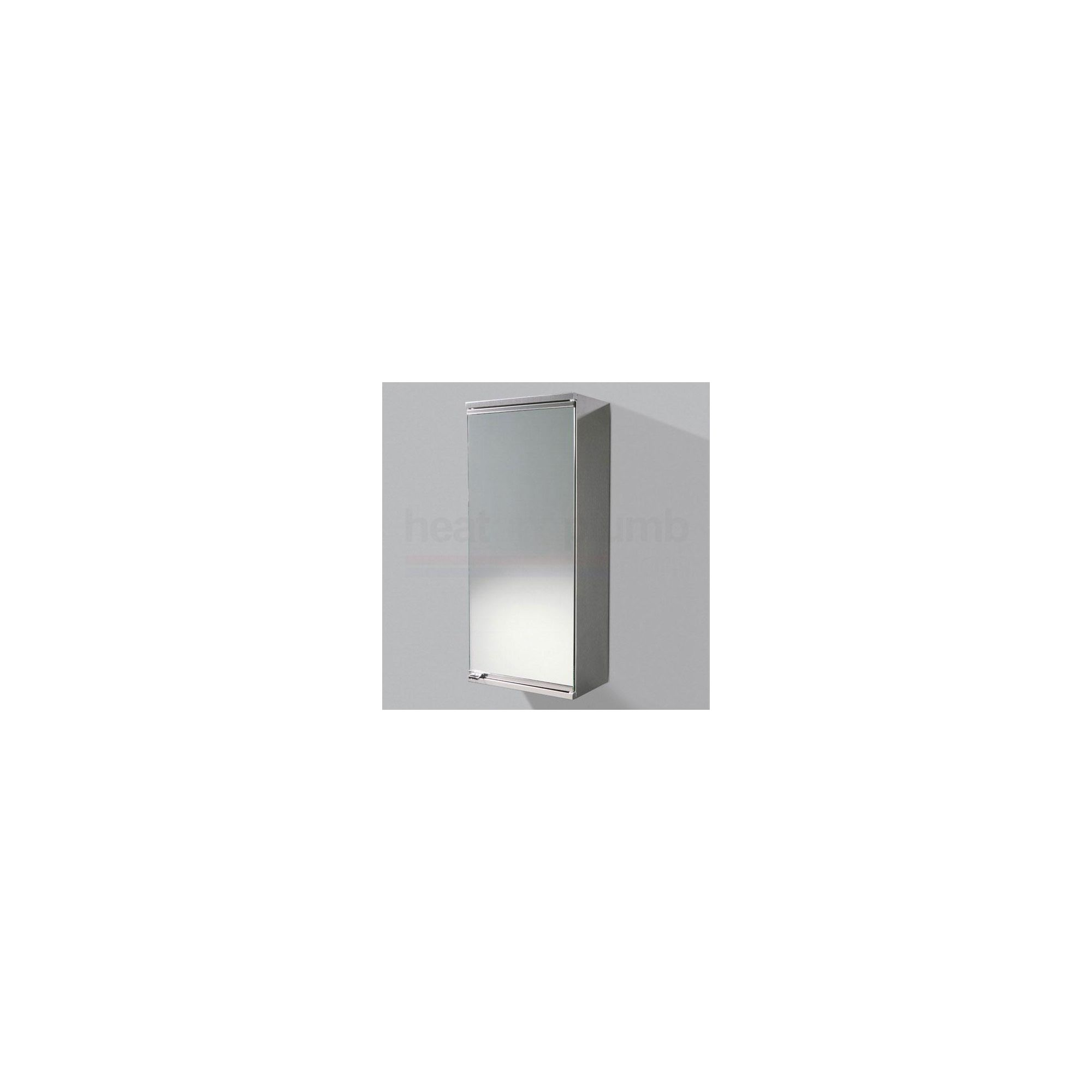 HiB Chandra Stainless Steel Bathroom Cabinet 695mm High x 300mm Wide x 185mm Deep