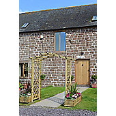 The Elite Portico Arch makes an attractive focal point in any garden, Planed and pressure treated timber, product is supplied flat packed