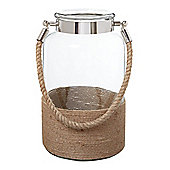 Linea Glass Rope Large Lantern