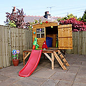 Mercia Bluebell Playhouse with Tower and Slide
