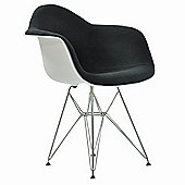 Eames Replica Dining Chair DAR White With Grey Seat