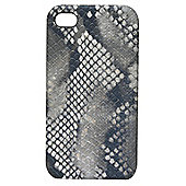 Tortoise™ Look Hard Case iPhone 4/4S Snake Fabric Black