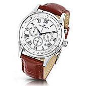 Kennett Gents Savro Silver White Brown Watch WSAVSILWHBR