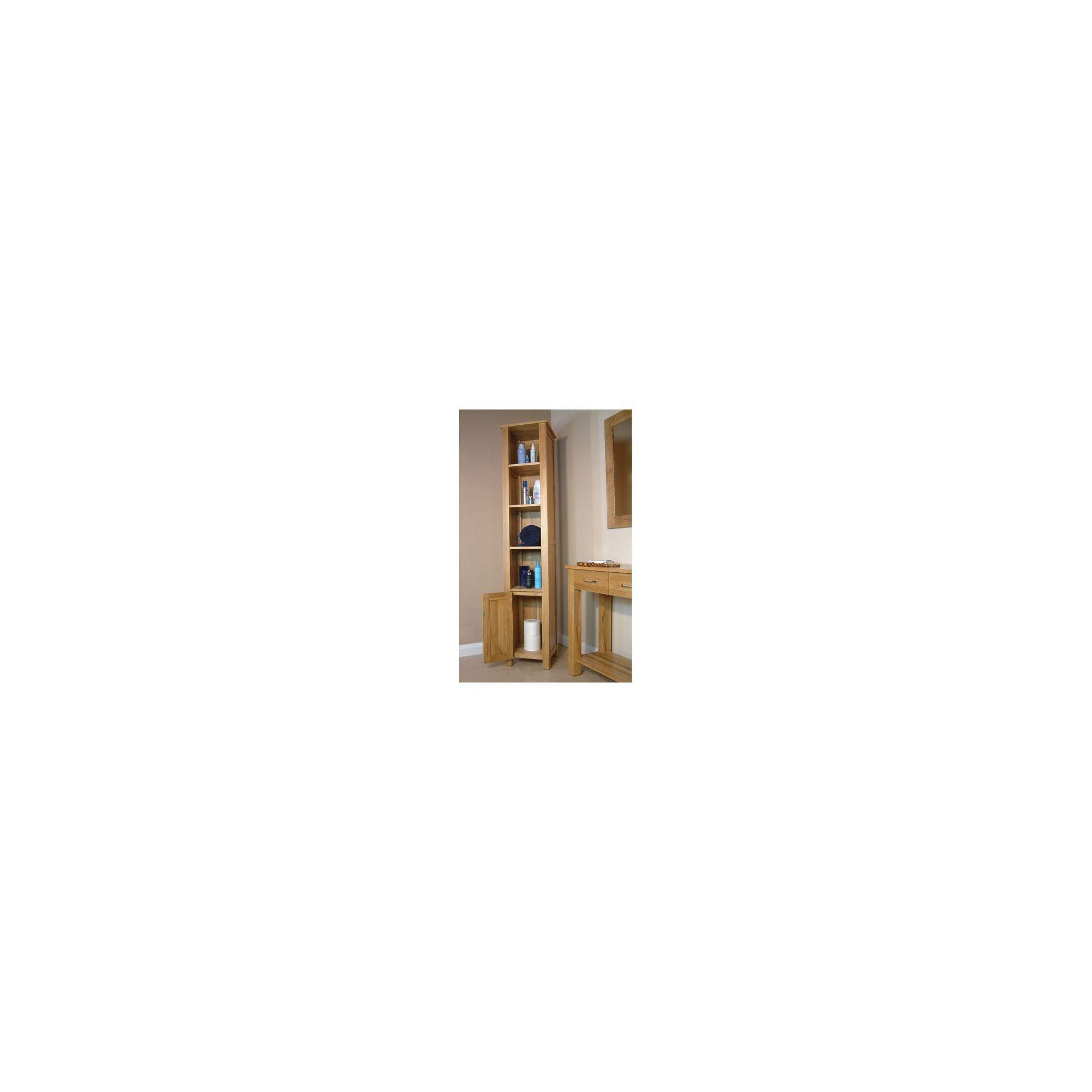 Baumhaus Mobel Oak Open Bathroom Unit Tall at Tesco Direct