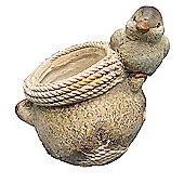 Bird on Pot Planter