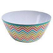 Tesco Picnic Melamine Salad Bowl Chevron