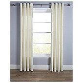 "Faux Silk Eyelet Curtains W162xL229cm (64x90""), Ivory"