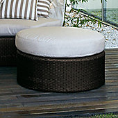 Varaschin Arena Circular Bench by Varaschin R and D - Dark Brown - Panama Azzurro