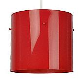 Modern Ceiling Pendant Light Shade in Gloss Red