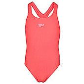 Speedo Endurance+ Medalist Swimsuit Kids Junior Girls Orange - Orange